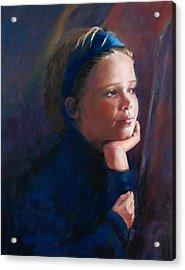 Katherine Acrylic Print by Jeanne Rosier Smith