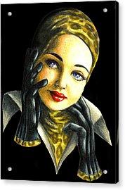 Kathrine Acrylic Print by Scarlett Royal