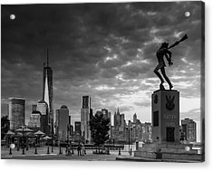 Acrylic Print featuring the photograph Katyn New World Trade Center In New York by Ranjay Mitra