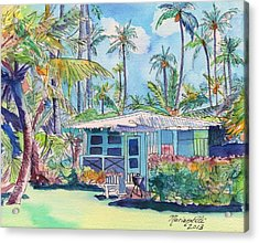 Kauai Blue Cottage 2 Acrylic Print