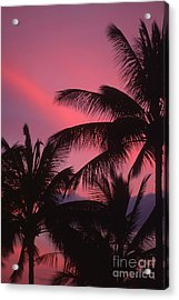 Kauai Sunset 2 Acrylic Print by Stan and Anne Foster