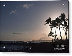 Kauai Sunset Acrylic Print by Stan and Anne Foster