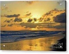 Kauai Sunset With Niihau On The Horizon Acrylic Print