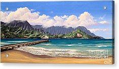Acrylic Print featuring the painting Kauai Surf Paradise by Chad Berglund