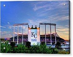 Royals Kauffman Stadium 2015 World Champions Acrylic Print