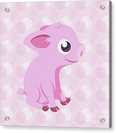 Kawaii Cute Piglet Acrylic Print