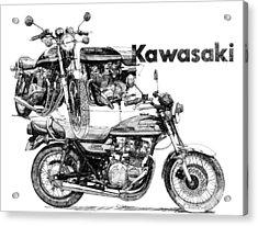 Kawasaki 900 Acrylic Print by Ron Patterson