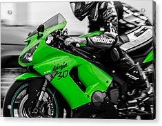Kawasaki Ninja Zx-6r Acrylic Print by Andrea Mazzocchetti