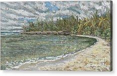 Kawela Bay Acrylic Print by Patti Bruce - Printscapes