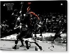 Kawhi Leonard Nasty Slam Acrylic Print