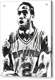 Kawhi Leonard San Antonio Spurs Pixel Art 4 Acrylic Print