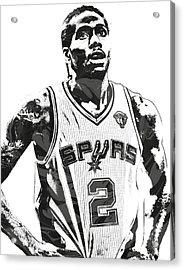 Kawhi Leonard Sanantonio Spurs Pixel Art 3 Acrylic Print by Joe Hamilton