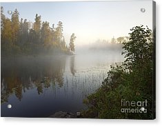 Acrylic Print featuring the photograph Kawishiwi Morning Fog by Larry Ricker