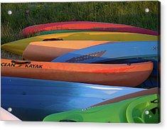 Kayak Acrylic Print by Tom Romeo