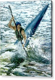 Kayaker Acrylic Print by Anita Carden