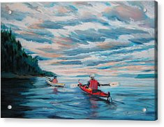 Kayakers Acrylic Print