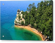 Kayaking At Miners Castle Acrylic Print