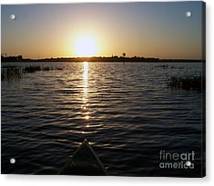 Kayaking Dawn Acrylic Print by Jack Norton