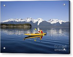 Kayaking Favorite Passage Acrylic Print by John Hyde - Printscapes