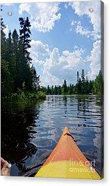 Kayaking Nature's Beauty Acrylic Print