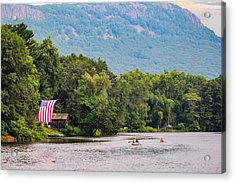 Kayaking On Nashawannuck Pond Easthampon Acrylic Print