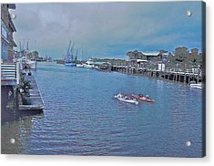 kayaking on Shem Creek Acrylic Print