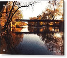 Kayaking The Driftwood River - Autumn Bliss Acrylic Print