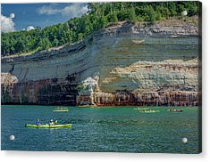 Kayaking The Pictured Rocks Acrylic Print
