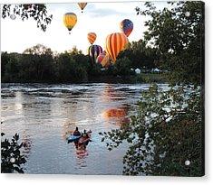 Kayaks And Balloons Acrylic Print