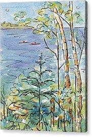 Kayaks On The Lake Acrylic Print
