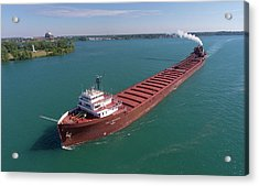 Lee A. Tregurtha Downbound At Belle Isle Acrylic Print