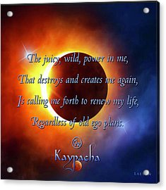 Kaypacha August 31, 2016 Acrylic Print