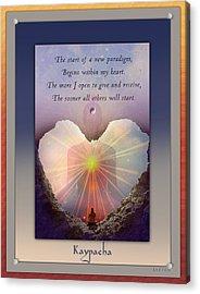 Kaypacha Mantra 3.3.2015 Acrylic Print