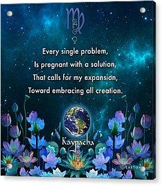 Kaypacha's Mantra 10.28.2015 Acrylic Print