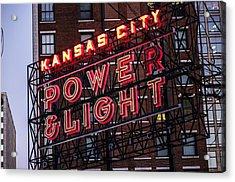 Kc Power And Light Acrylic Print
