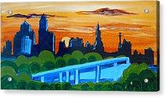 Kc Skyline At Sunset Acrylic Print