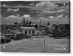 Kc Skyline Acrylic Print by Lisa Plymell