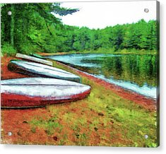 Kearney Lake Beach Acrylic Print by Leslie Montgomery
