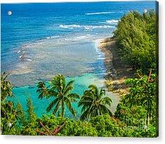 Kee Beach Kauai Acrylic Print