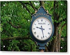 Keeneland Clock Acrylic Print