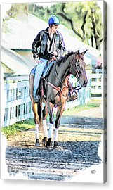 Keeneland Pony Boy Acrylic Print by Tom Schmidt