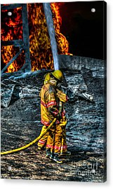 Keep Fire In Your Life No 8 Acrylic Print by Tommy Anderson