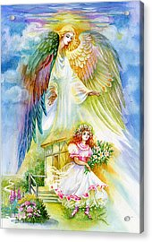 Keep Her Safe Lord Acrylic Print by Karen Showell