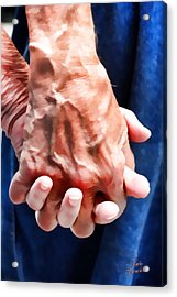 Keep Holding On Acrylic Print by Kathy Tarochione