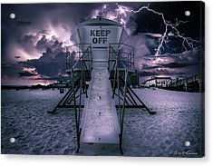 Keep Off Acrylic Print by Brent Shavnore