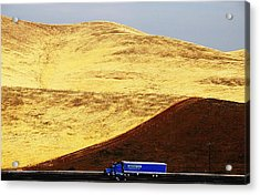 Acrylic Print featuring the photograph Keep On Western Truckin On Hwy 152 Ca by John King
