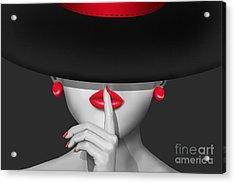 Keep Quiet Acrylic Print by Monika Juengling