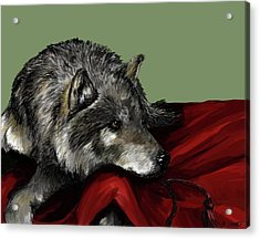 Acrylic Print featuring the digital art Keeper Of The Hood by Meagan  Visser