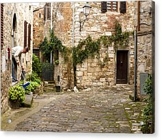 Keeping Montefioralle Clean Acrylic Print