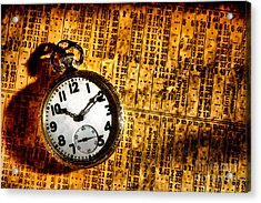 Keeping The Railroad On Time Acrylic Print by Olivier Le Queinec